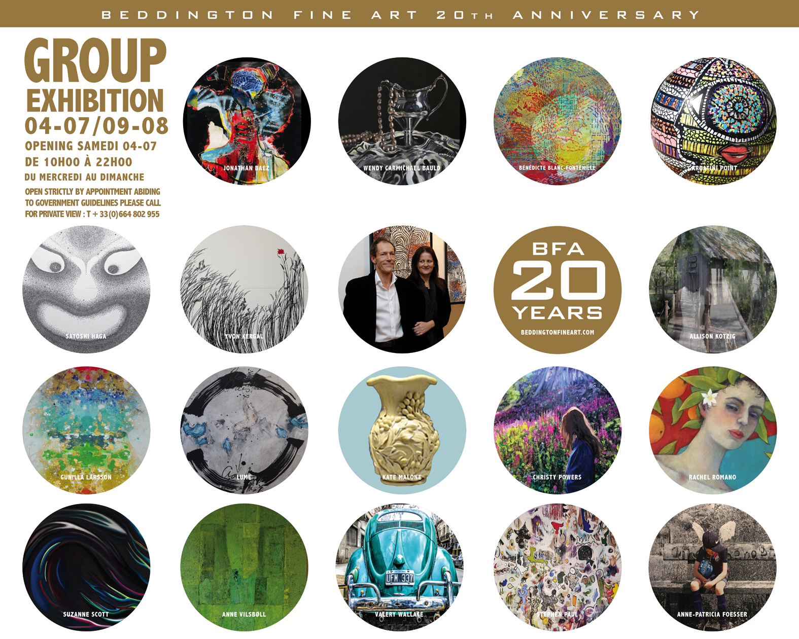 invitation group exhibition BFA 2020