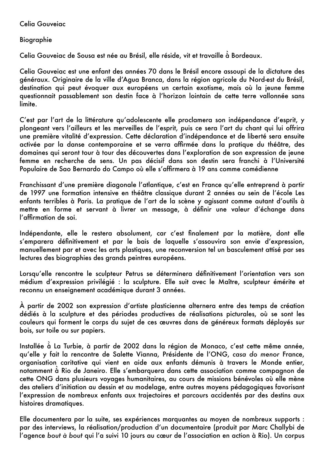 Bio Célia GOUVEIAC